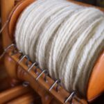 A lovely example of 2 ply Worsted spun from our roving by M. Brace :)